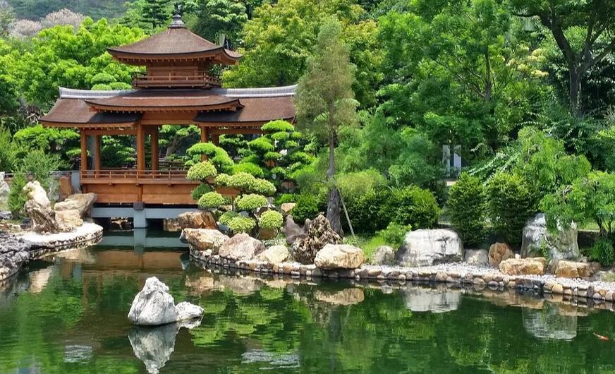 日式庭园景观